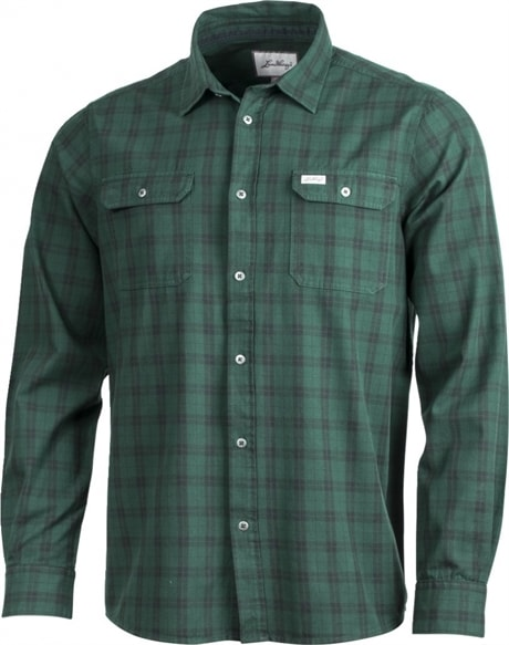Lundhags Flanell Shirt, M's Pine - Charcoal(#405F57, #4A5656) L