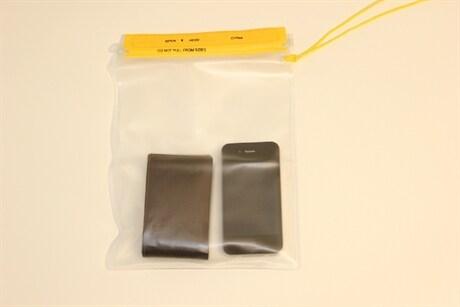 Vanntett plastlomme til mobil/kamera