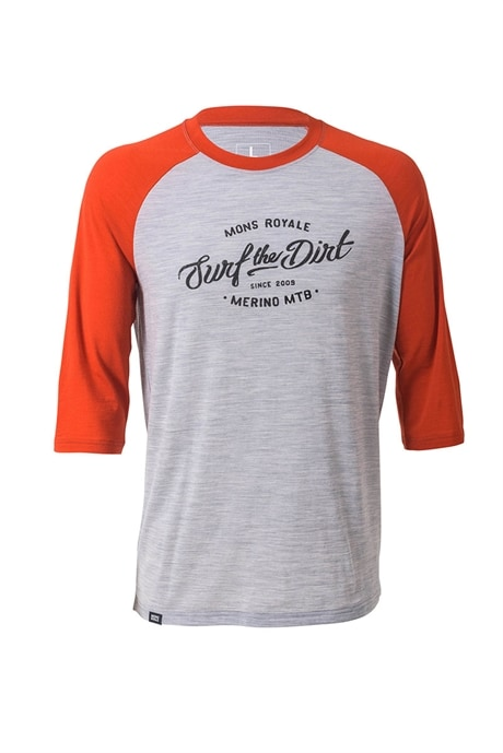 Mons Royale Redwood 3/4 Raglan Tee Dirt M's