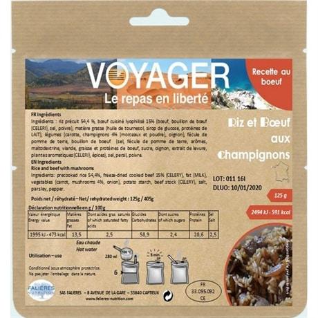 Voyager Ris og biff med sopp