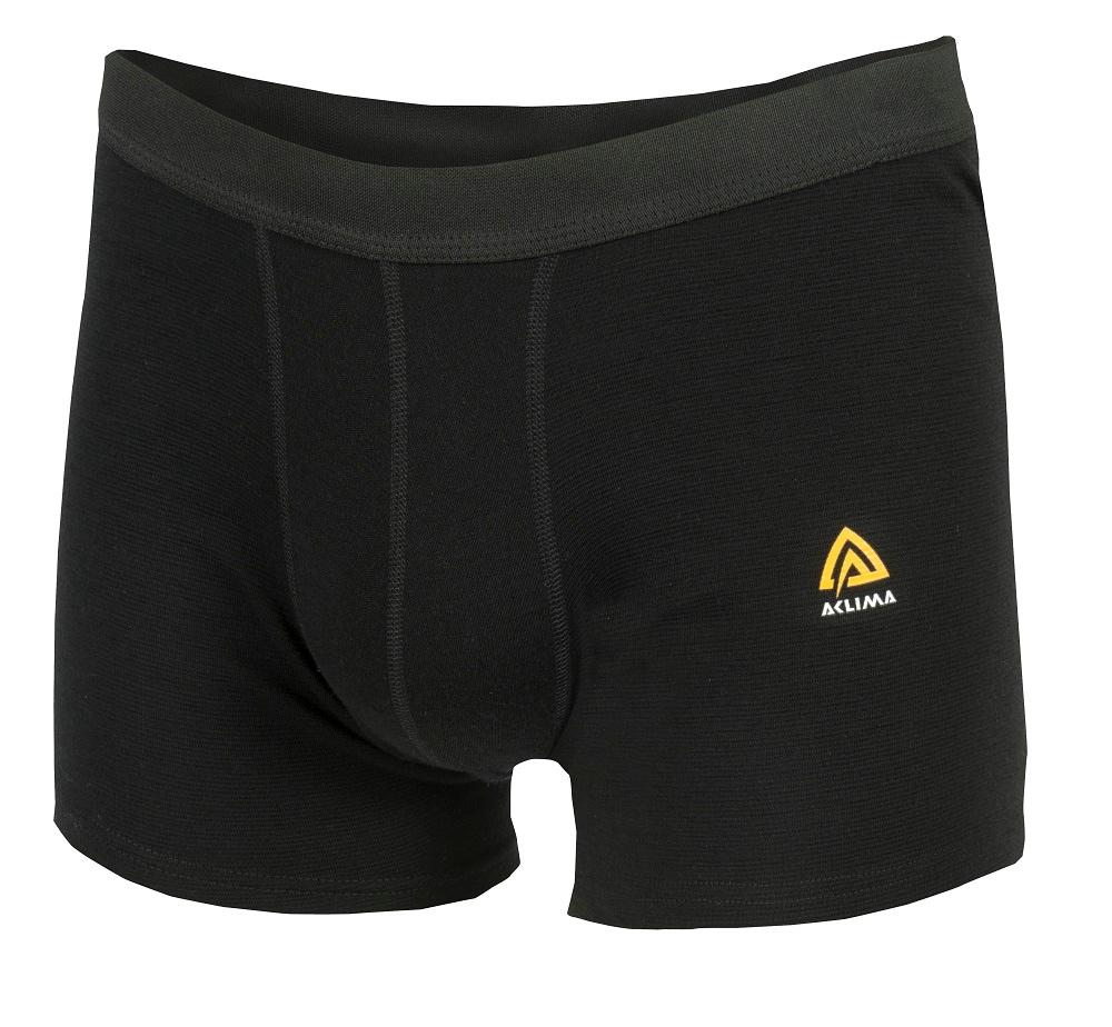 Aclima WarmWool Boxer Shorts, M's, Jet Black