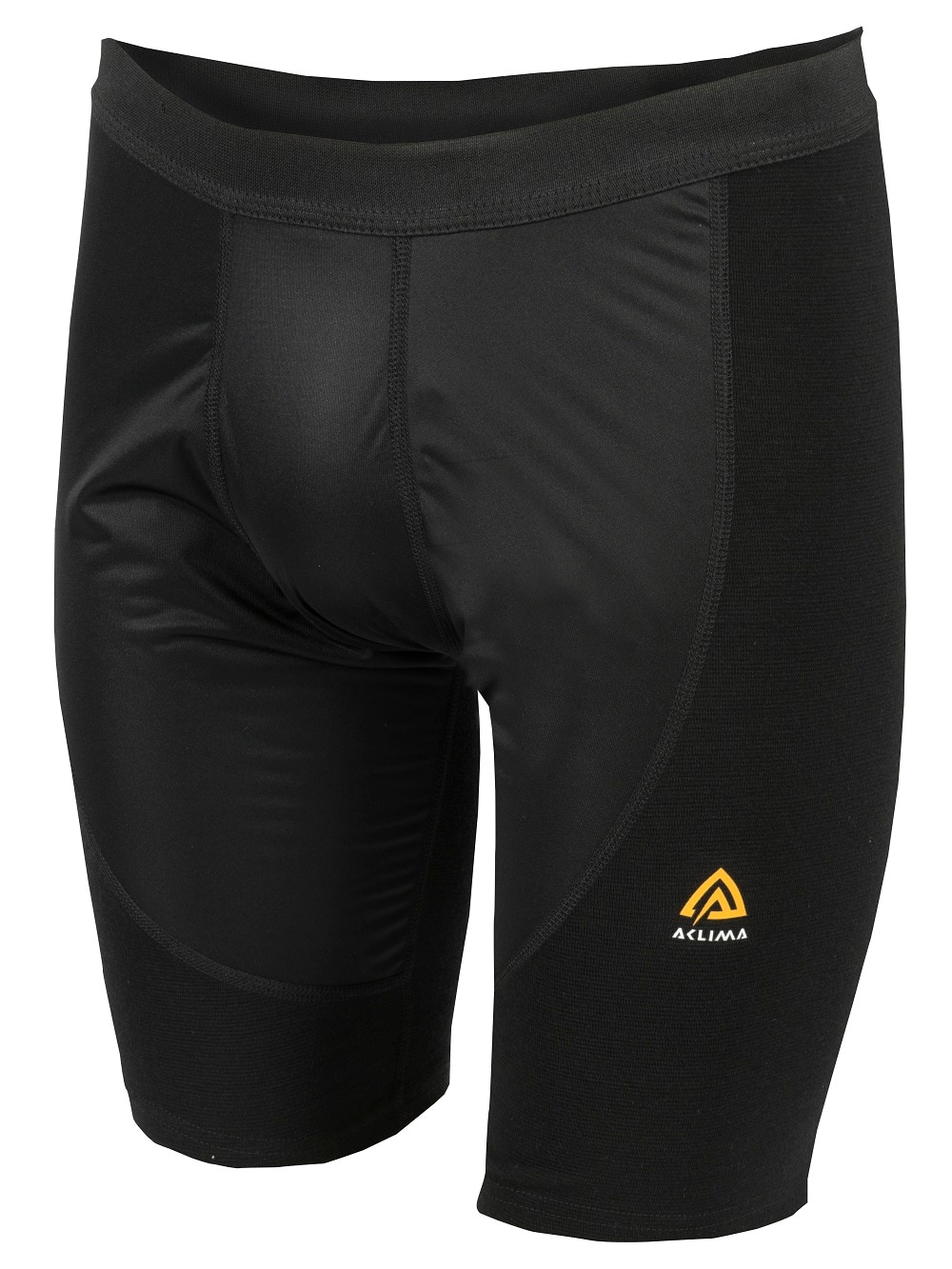 Aclima WarmWool Long Shorts m/Windstop, M's, Jet Black