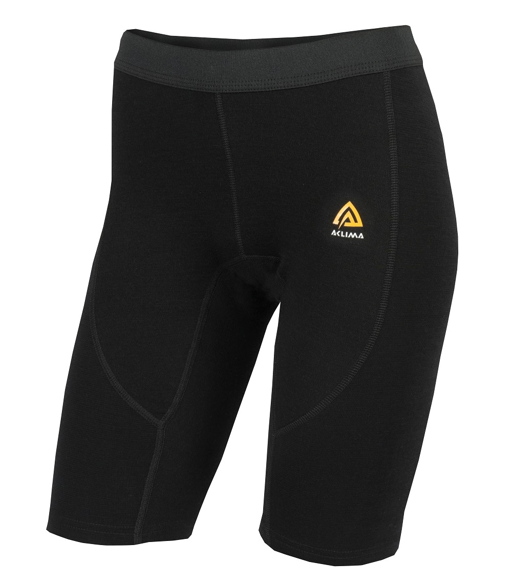 Aclima WarmWool Long Shorts, W's, Jet Black