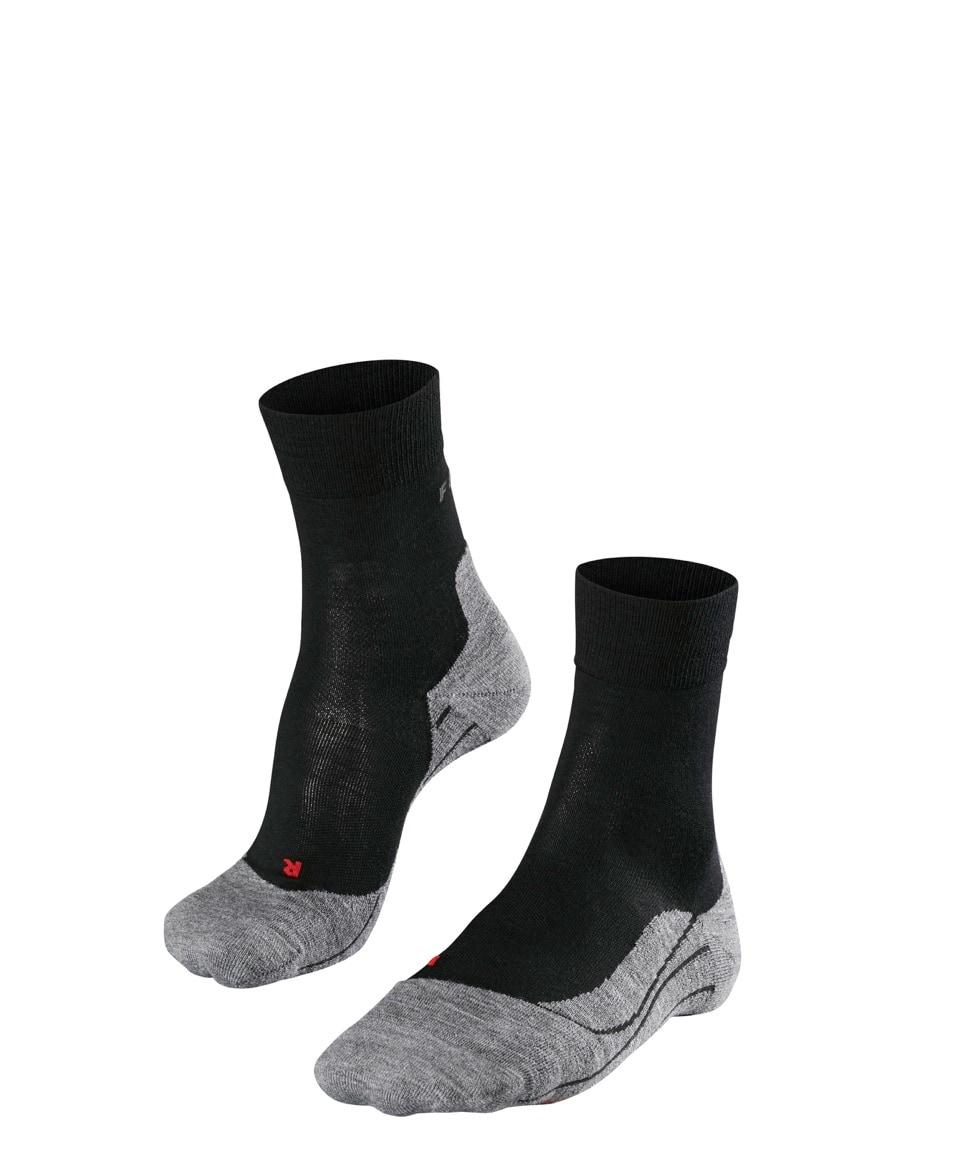 Falke RU4 Wool W's, Løpesokker med Demping, Black Mix