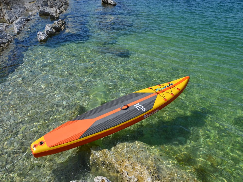 204-SUP Stand up Paddle Race Board VIAMARE 380 cm gelb-orange