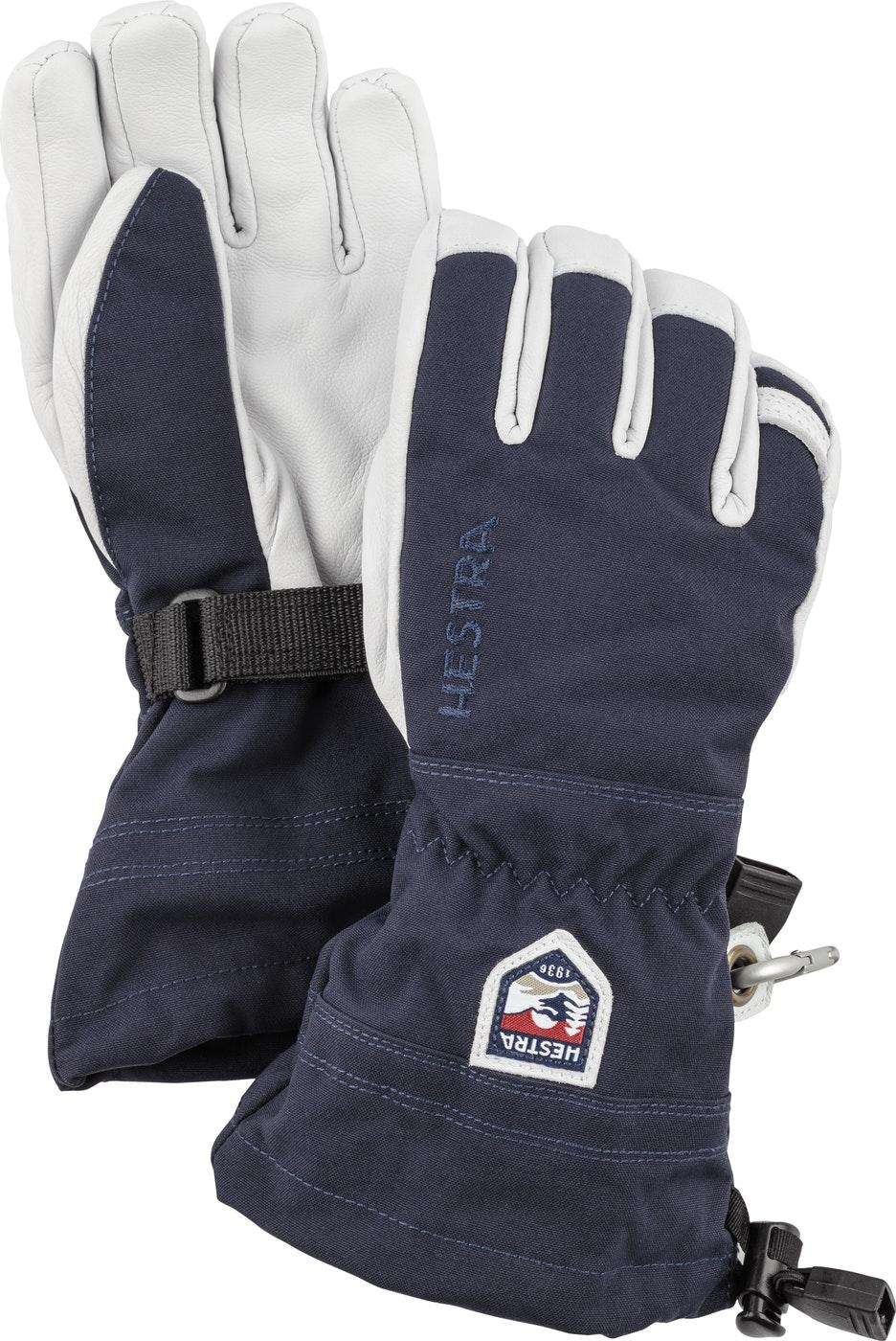 Hestra Army Leather Heli Ski JR 5 finger