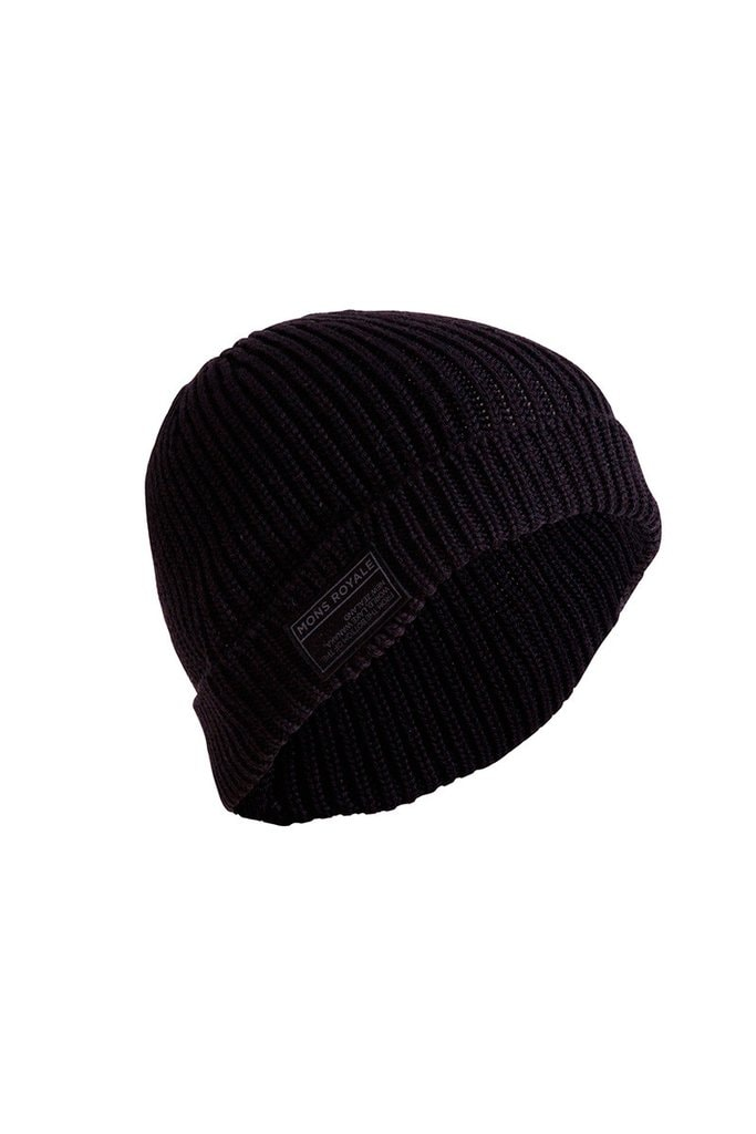 Mons Royale Fisherman's Beanie, Black