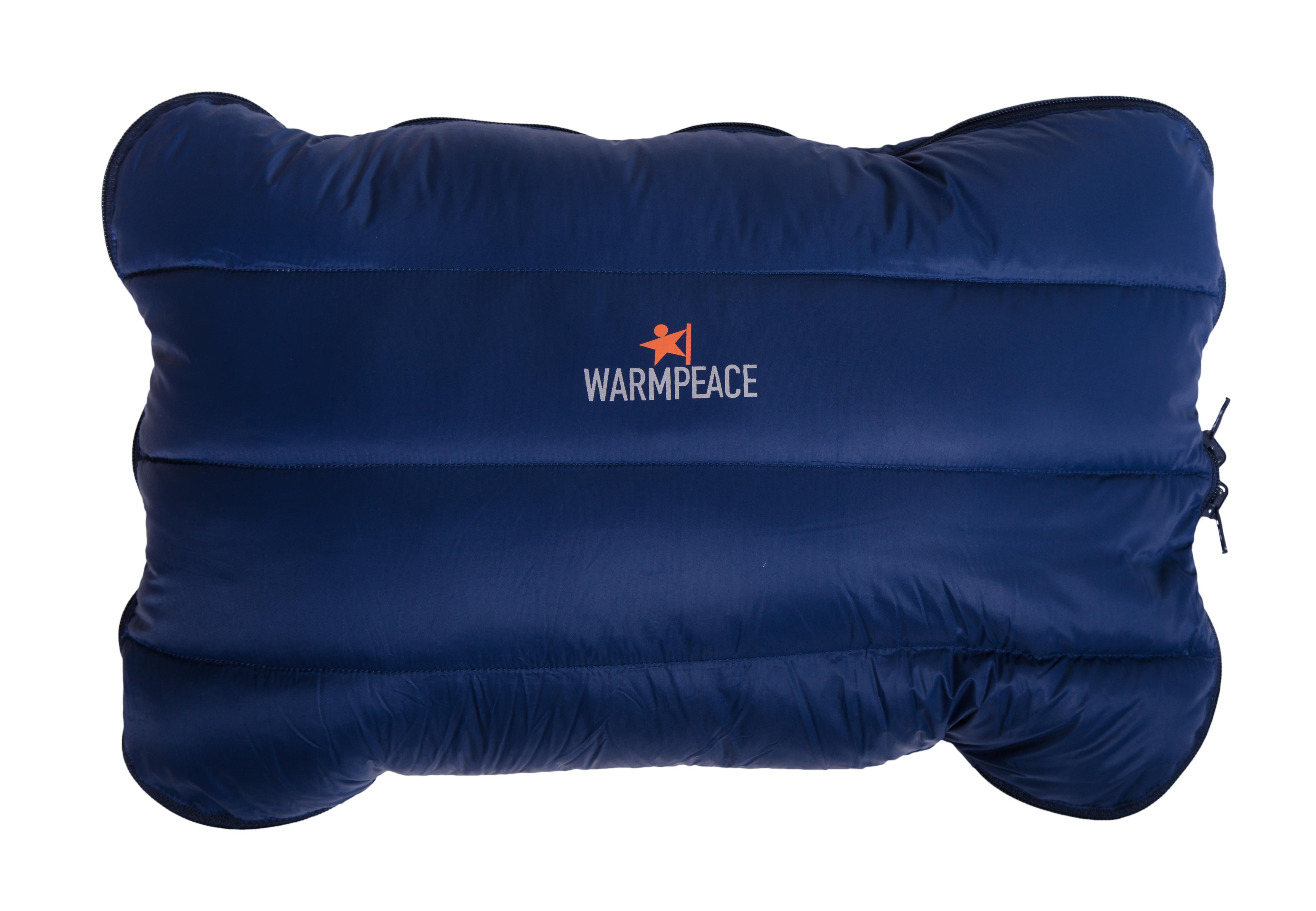 4389 Down Pillow zippered navy-filled close