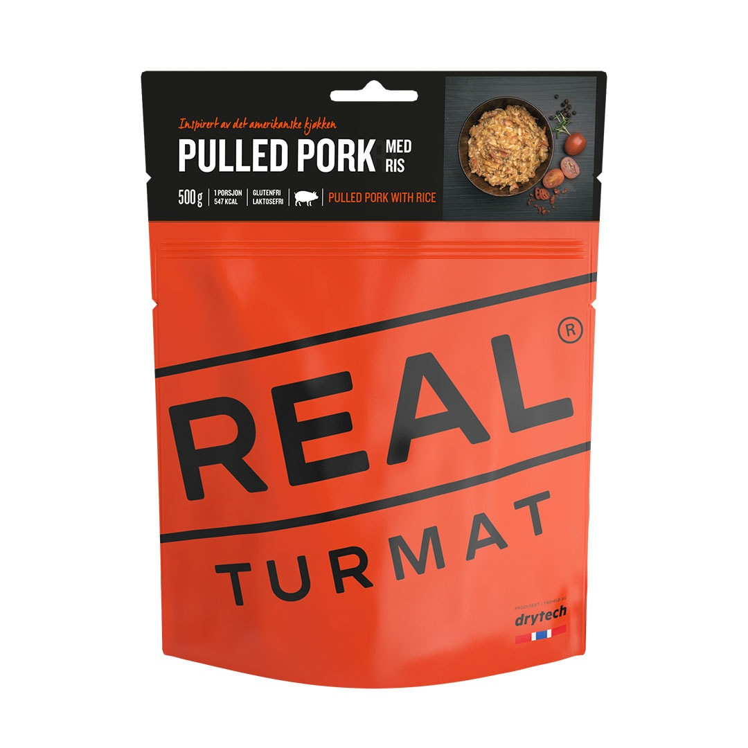 Real Turmat Pulled Pork med ris