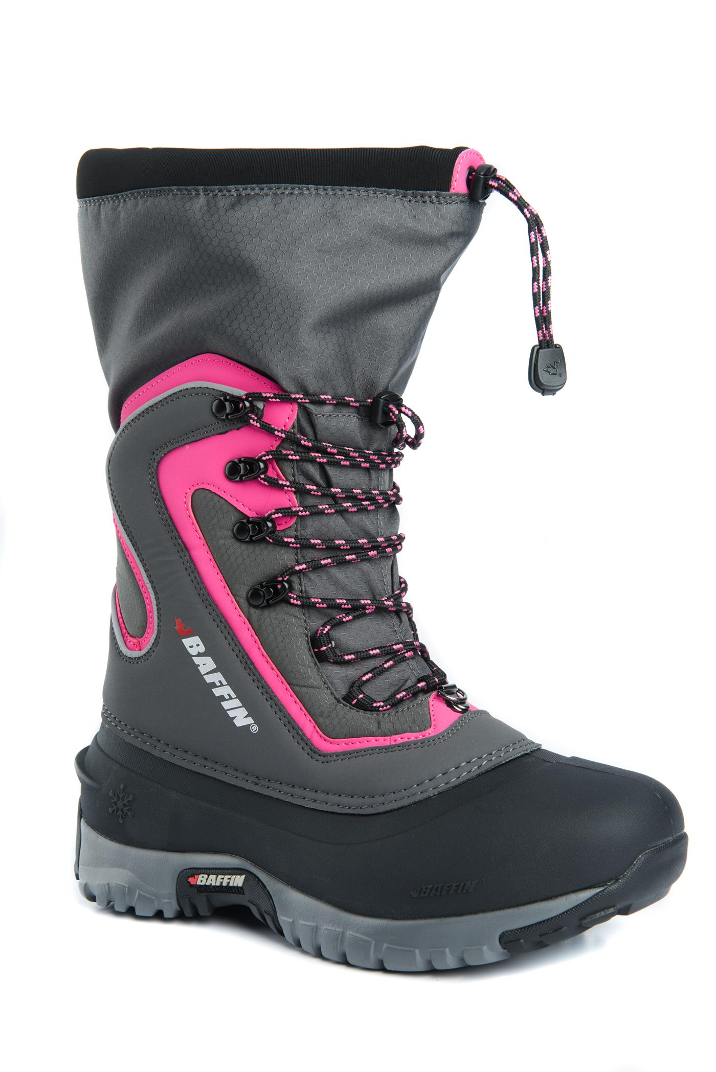 Baffin-flare-vinterstøvel-dame-rosa-front