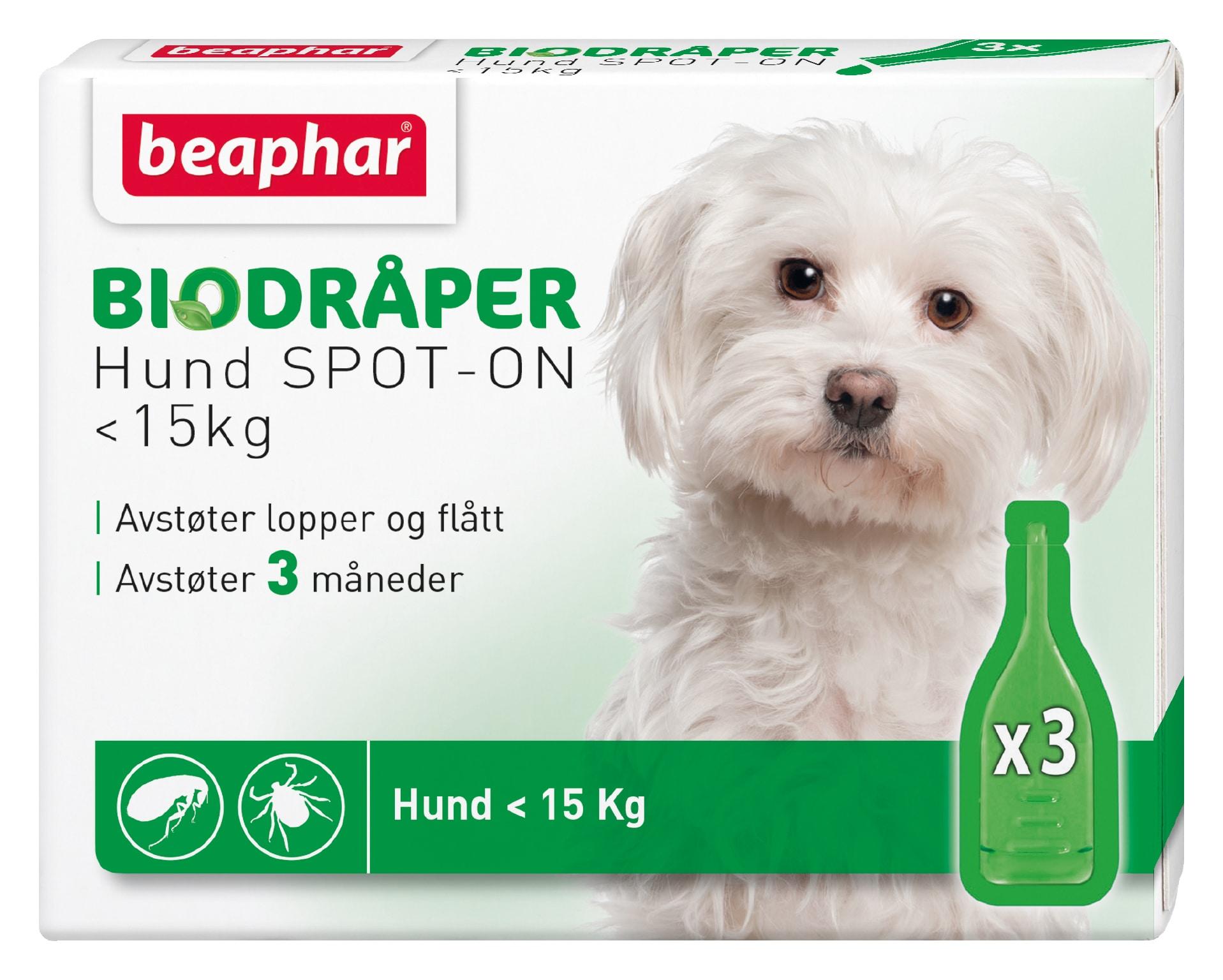 Beaphar Biodråper Spot-On Flått avstøter Liten Hund