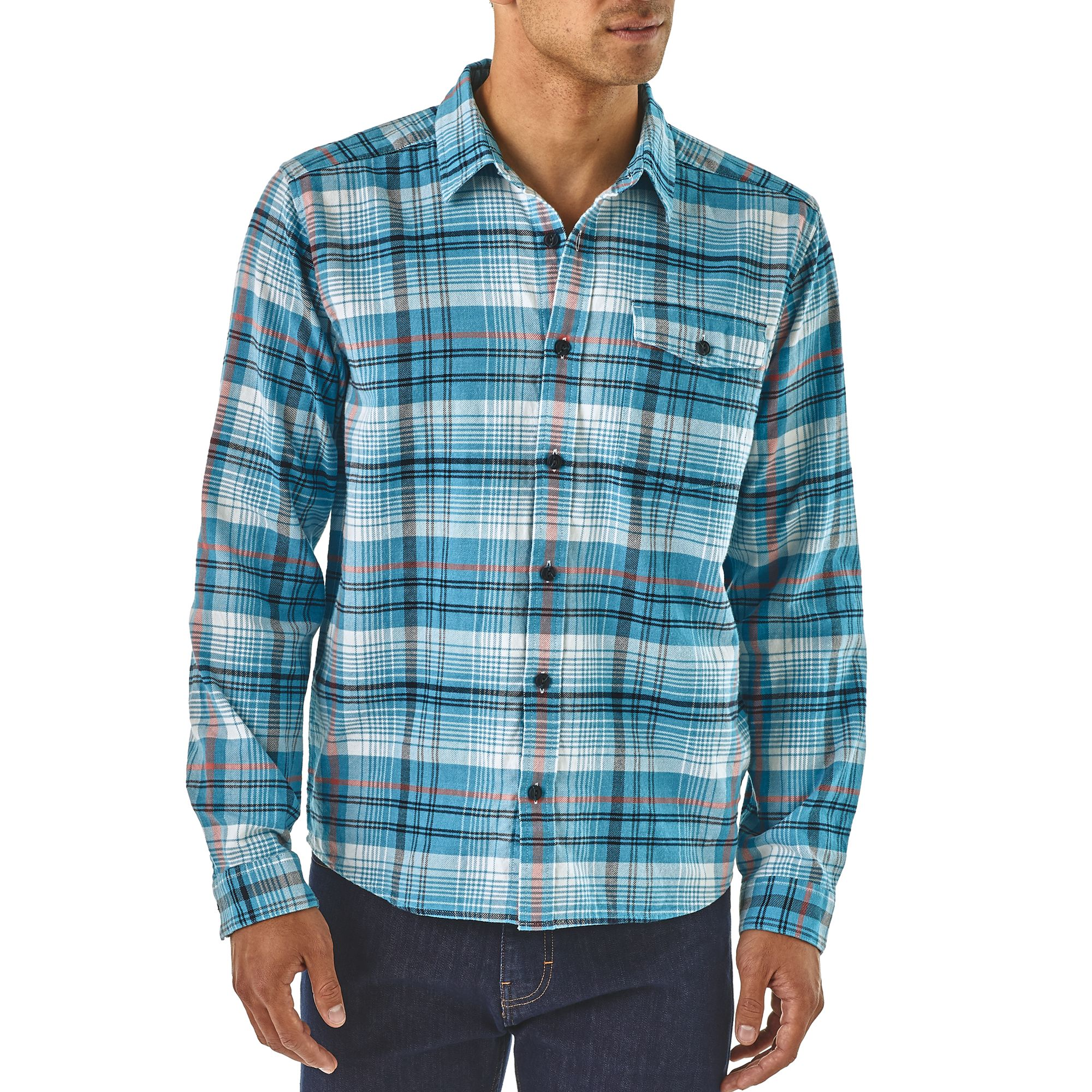 Fjord Flannel LW  Break up Blue 2