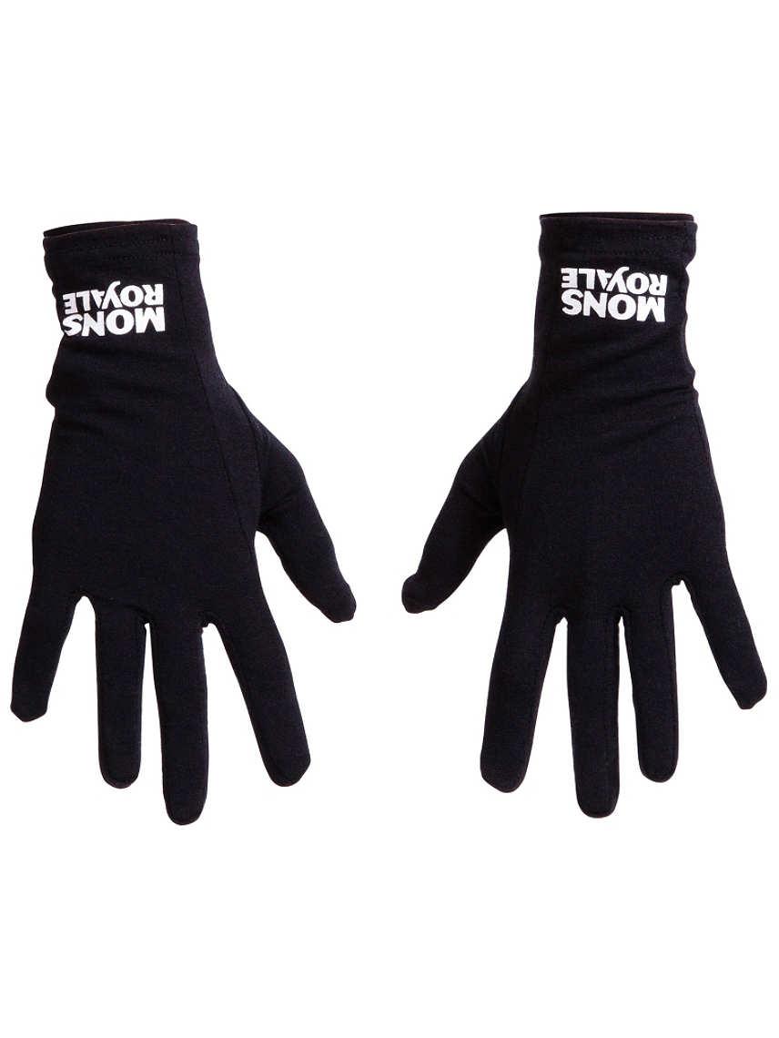 Mons Royale Volta Glove Liner, Black, Unisex