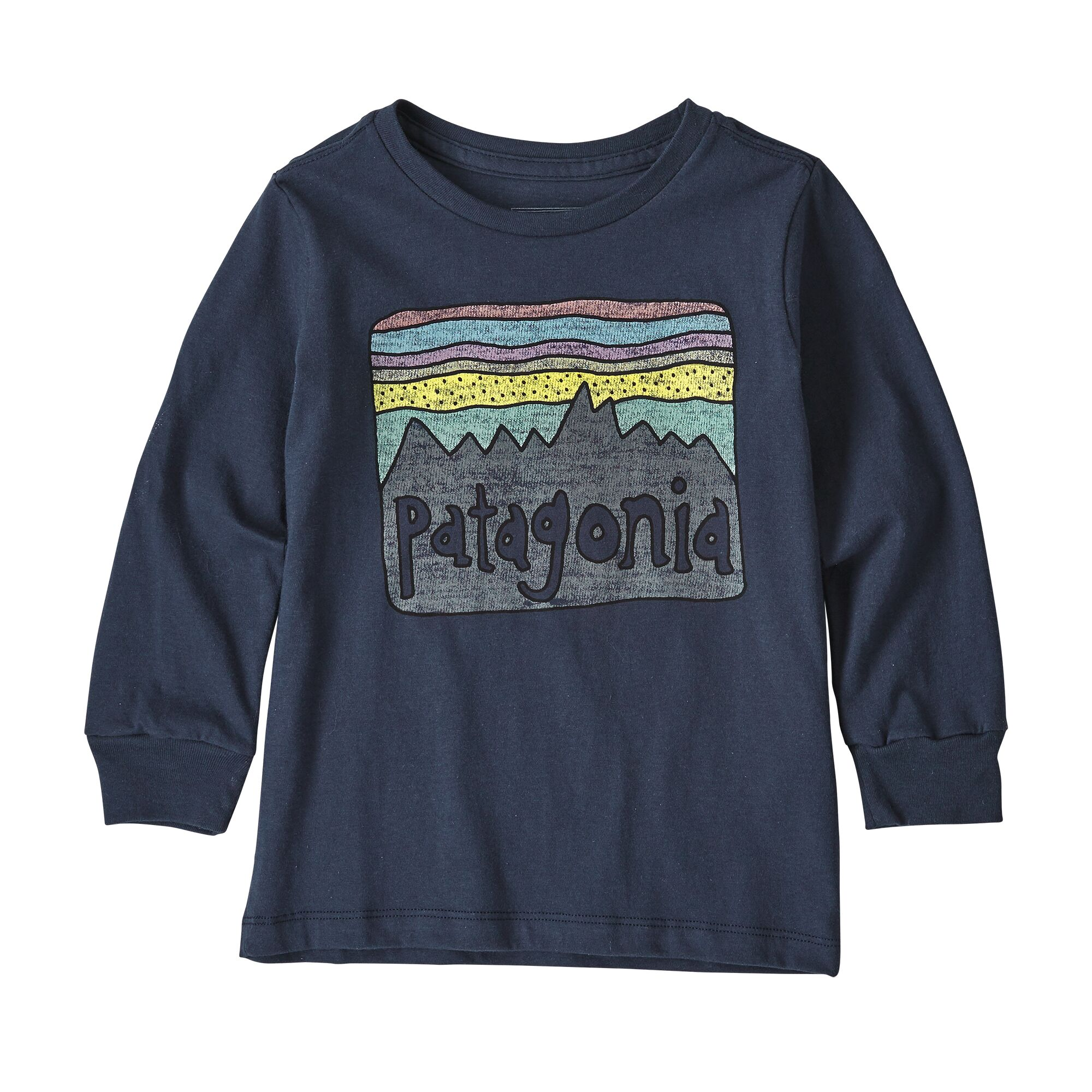 Patagonia Baby Long-Sleeved Graphic Organic T-Shirt