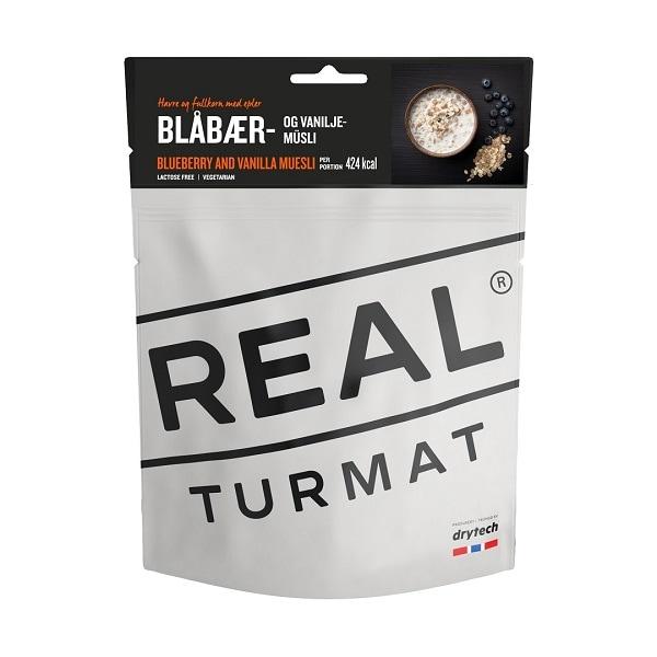 Real Turmat Blåbær og Vaniljemüsli