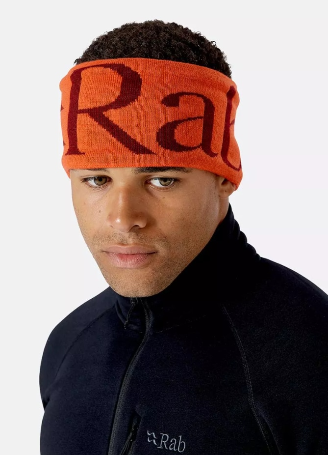 RAB Knitted logo Headband