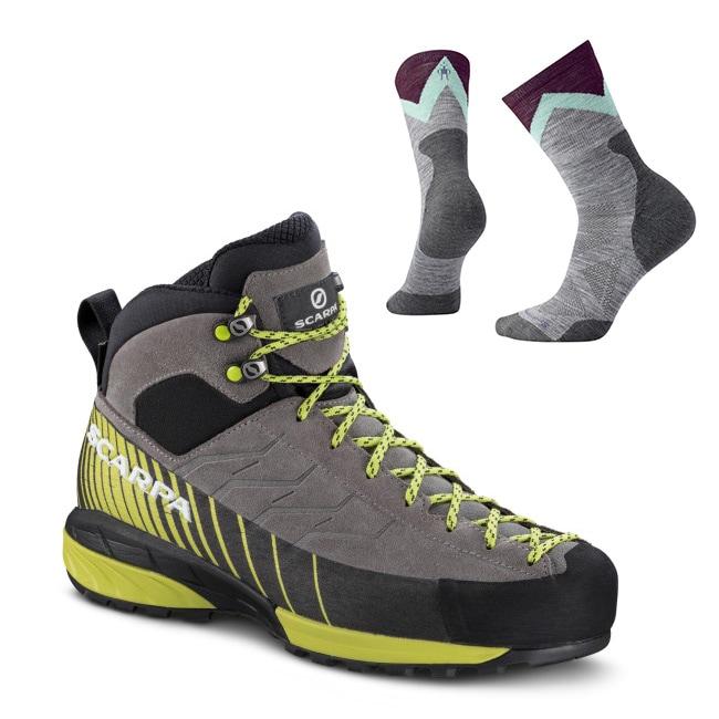 Scarpa Mescalito Mid GTX + Smartwool sokker, Dame