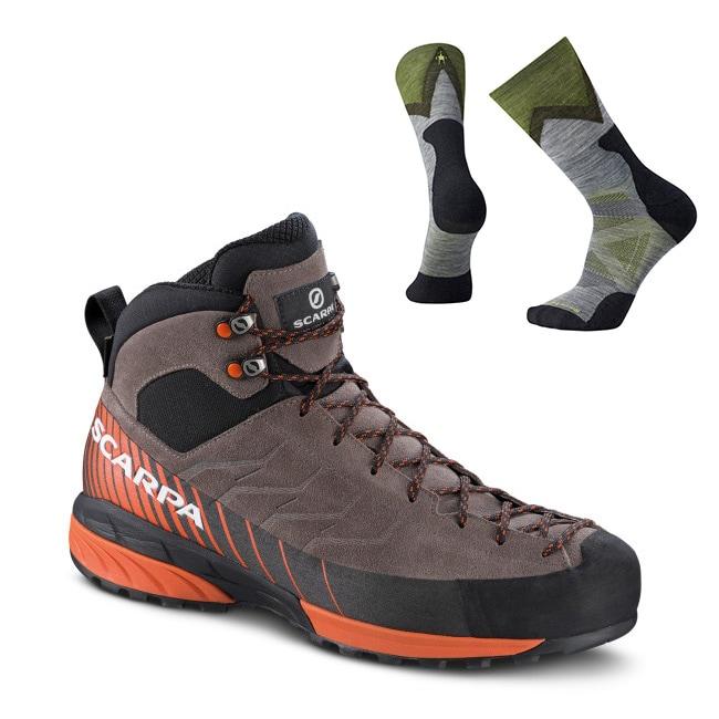Scarpa Mescalito Mid GTX + Smartwool sokker, Herre