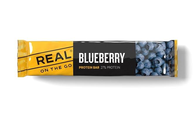 Real Turmat Proteinbar Blåbær og Bjørnebær