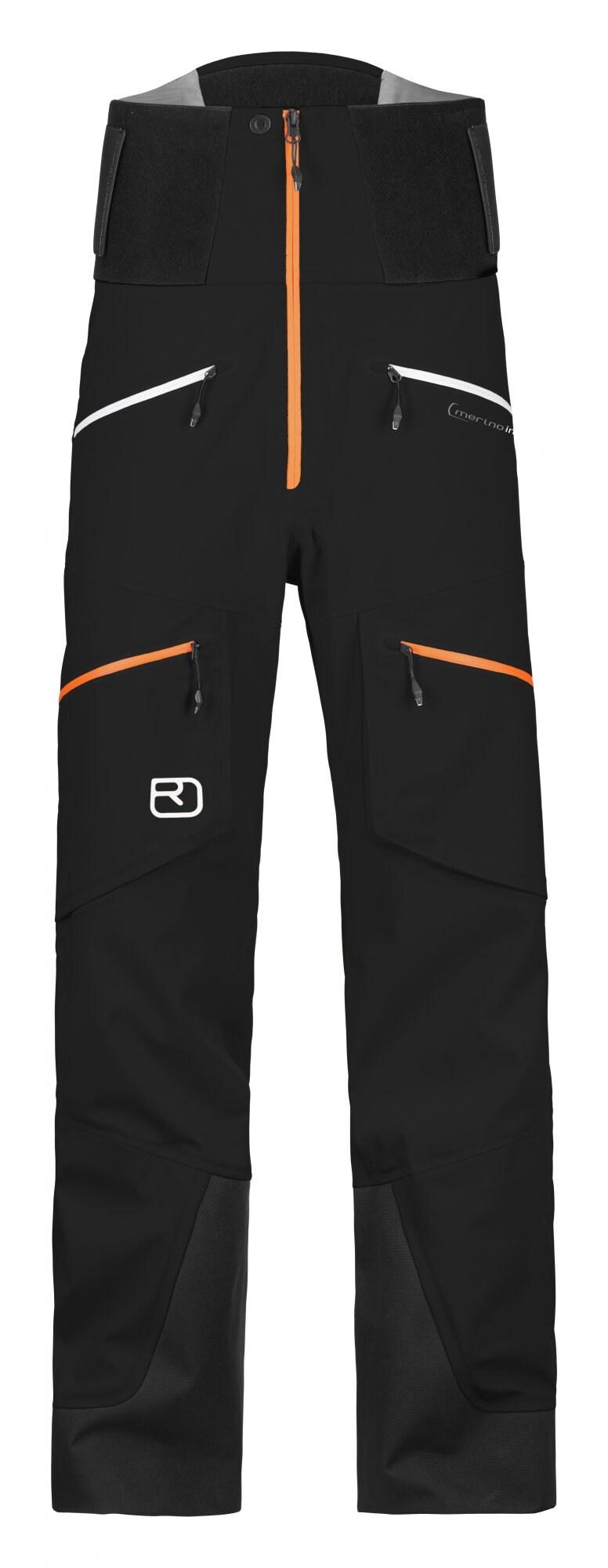 Ortovox Guardian 3L Shell Pants Herre black raven | Gode